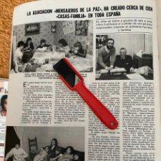 Coleccionismo de Revistas: RECORTE REVISTA LECTURAS Nº1552 / 1982 / MENSAJEROS DE LA PAZ PADRE ANGEL. Lote 222286862