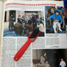 Coleccionismo de Revistas: RECORTE REVISTA LECTURAS Nº1552 / 1982 / CARMEN CERVERA / LAS TRILLIZAS MARIA EMILIA. Lote 222287160