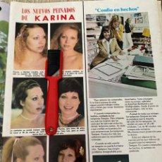 Coleccionismo de Revistas: RECORTE REVISTA LECTURAS Nº1320 / 1977 / KARINA. Lote 222287346