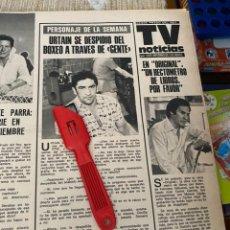 Coleccionismo de Revistas: RECORTE REVISTA LECTURAS Nº1320 / 1977 / URTAIN BOXEO. Lote 222287598