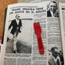 Coleccionismo de Revistas: RECORTE REVISTA LECTURAS Nº1320 / 1977 / FRANK SINATRA. Lote 222287745