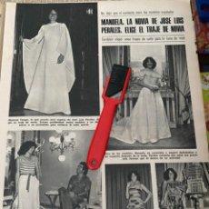 Coleccionismo de Revistas: RECORTE REVISTA LECTURAS Nº1320 / 1977 / MANUELA JOSE LUIS PERALES / MANOLO OTERO / DOCTOR ROSADO. Lote 222287836