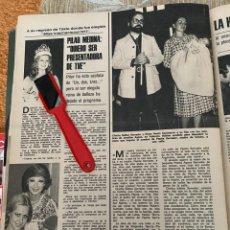 Coleccionismo de Revistas: RECORTE REVISTA LECTURAS Nº1320 / 1977 / PILAR MEDINA / CHICHO IBAÑEZ SERRADOR. Lote 222288140