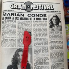 Coleccionismo de Revistas: RECORTE REVISTA LECTURAS Nº1320 / 1977 / MARIAN CONDE. Lote 222288236