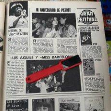Coleccionismo de Revistas: RECORTE REVISTA LECTURAS Nº1320 / 1977 / LUIS AGUILE MISS BARCELONA / PIERROT / SITGES. Lote 222288315