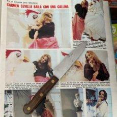 Coleccionismo de Revistas: RECORTE REVISTA LECTURAS Nº1494 / 1980 / CARMEN SEVILLA. Lote 222921296