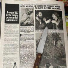 Coleccionismo de Revistas: RECORTE REVISTA LECTURAS Nº1494 / 1980 / BETTY MISSIEGO. Lote 222922082