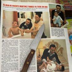 Coleccionismo de Revistas: RECORTE REVISTA LECTURAS Nº1494 / 1980 / VICENTE MARTINEZ TORRES. Lote 222922458