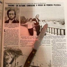 Collectionnisme de Magazines: RECORTE REVISTA LECTURAS Nº1535 / AÑO 1981 / EUGENIO / BARBARA REY. Lote 222997782