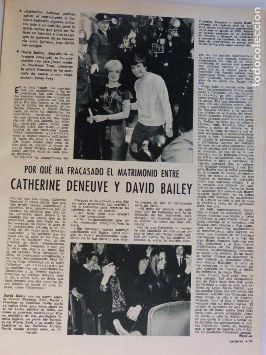 Coleccionismo de Revistas: REVISTA LECTURAS ROGER MOORE MARIA DOLORES GARCIA MAJA DE ESPAÑA 1968 JOSE LUIS OZORES Nº 839 L1 - Foto 3 - 229150465