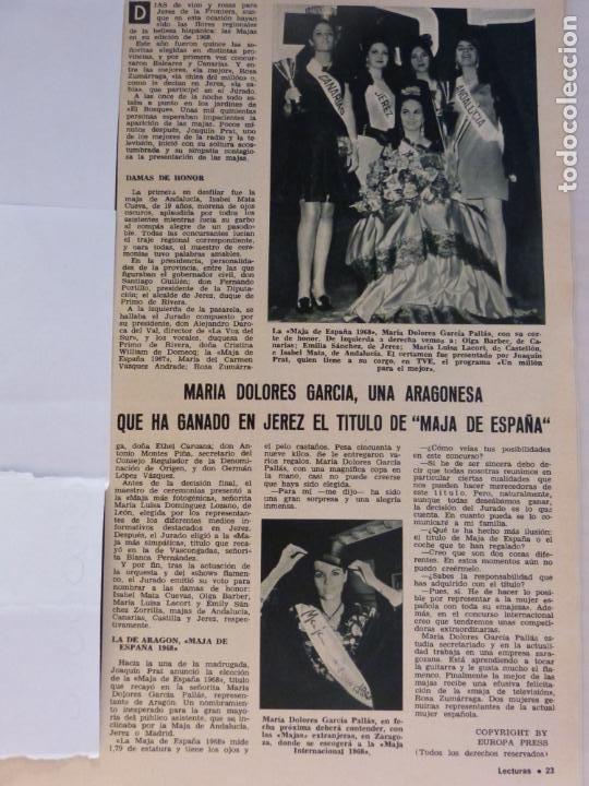 Coleccionismo de Revistas: REVISTA LECTURAS ROGER MOORE MARIA DOLORES GARCIA MAJA DE ESPAÑA 1968 JOSE LUIS OZORES Nº 839 L1 - Foto 4 - 229150465