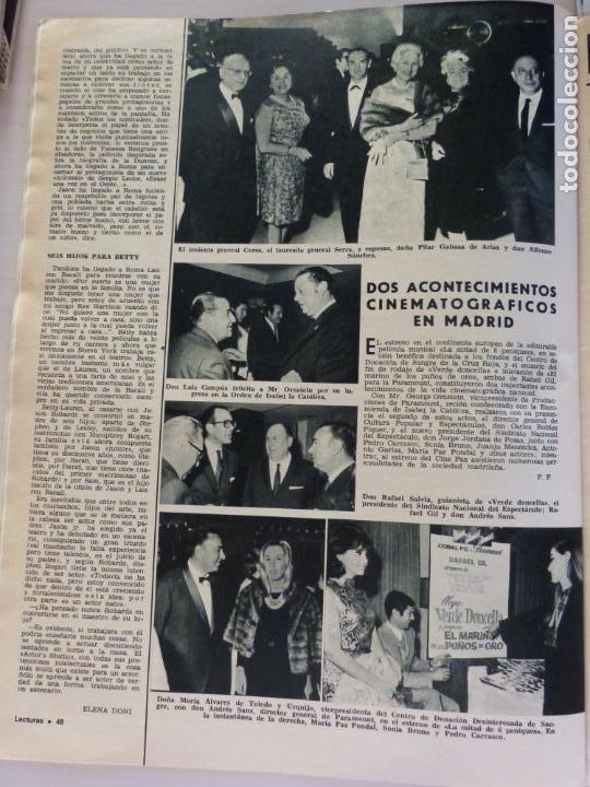 Coleccionismo de Revistas: REVISTA LECTURAS ROGER MOORE MARIA DOLORES GARCIA MAJA DE ESPAÑA 1968 JOSE LUIS OZORES Nº 839 L1 - Foto 12 - 229150465