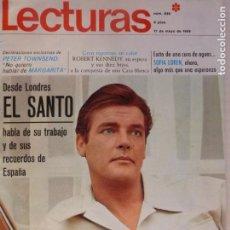 Coleccionismo de Revistas: REVISTA LECTURAS ROGER MOORE MARIA DOLORES GARCIA MAJA DE ESPAÑA 1968 JOSE LUIS OZORES Nº 839 L1. Lote 229150465