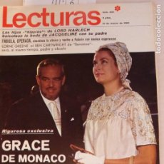 Coleccionismo de Revistas: REVISTA LECTURAS OMAR SHARIF BONANZA BEN CARTWRIGHT BRIGITTE BARDOT GRACE DE MONACO Nº 830 L1. Lote 229150830