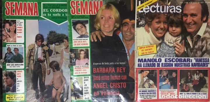 LOTE 3 REVISTAS SEMANA LECTURAS 1979 1980 1981 POSTER PARCHIS EL CORDOBES BARBARA REY MANOLO ESCOBAR (Coleccionismo - Revistas y Periódicos Modernos (a partir de 1.940) - Revista Lecturas)