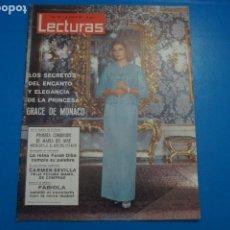 Coleccionismo de Revistas: REVISTA LECTURAS STATHIS GIALLELIS GRACE DE MONACO CARMEN SEVILLA CHRISTOPHER LEE NANCY Nº 633 L2. Lote 229308540