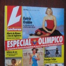 Coleccionismo de Revistas: REVISTA LECTURAS ESPECIAL OLIMPIADAS BARCELONA -MARTA SANCHEZ-PRINCIPE FELIPE-CARL LEWIS-NUEVA-1992. Lote 28291136