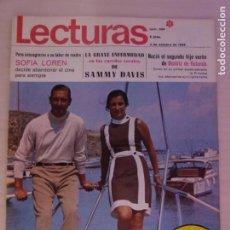 Coleccionismo de Revistas: REVISTA LECTURAS MISS EUROPA 1968 GREGORY PECK SOFIA LOREN CONCHITA VELASCO FRANK SINATRA Nº 859 L3. Lote 230325110