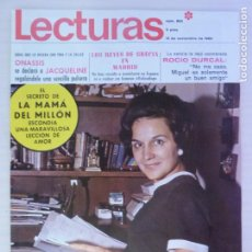 Coleccionismo de Revistas: REVISTA LECTURAS ROCIO DURCAL CARMEN SEVILLA ANTONIO ORDOÑEZ TED KENNEDY PAT NIXON Nº 865 L3. Lote 230327160