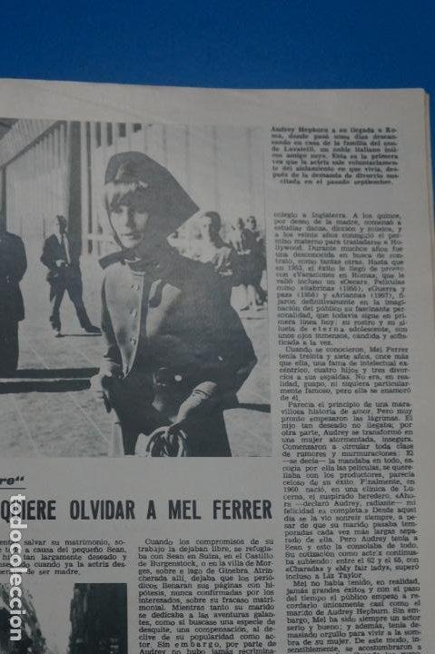 Coleccionismo de Revistas: REVISTA LECTURAS BRIGITTE BARDOT AUDREY HEPBURN SONIA BRUNO LOS PRINCIPES DE MONACO Nº 834 L4 - Foto 5 - 230329865
