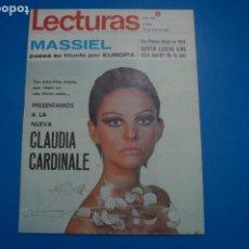 Coleccionismo de Revistas: REVISTA LECTURAS MASSIEL MARTIN LUTERO KING LOLA FLORES CLAUDIA CARDINALE MARLENE DIETRICH Nº 835 L4. Lote 230331195