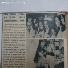 Collectionnisme de Magazines: RECORTE CLIPPING DE MISS INTERNACIONAL 1969 REVISTA LECTURAS Nº 910 PAG. 48 L5. Lote 231380795