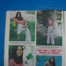 Coleccionismo de Revistas: RECORTE CLIPPING DE TERESA RABAL REVISTA LECTURAS Nº 909 PAG. 10 L5. Lote 231434680