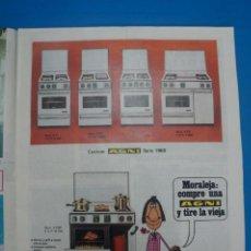 Coleccionismo de Revistas: RECORTE CLIPPING DE COCINAS AGNI REVISTA LECTURAS Nº 909 PAG. 11 L5. Lote 231434750