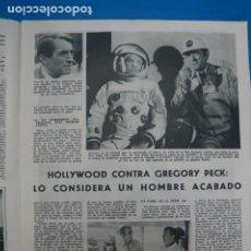 Coleccionismo de Revistas: RECORTE CLIPPING DE GREGORY PECK REVISTA LECTURAS Nº 909 PAG. 13 L5. Lote 231434815