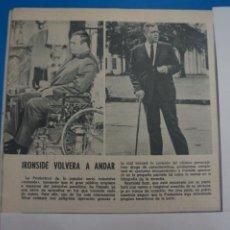 Coleccionismo de Revistas: RECORTE CLIPPING DE IRONSIDE REVISTA LECTURAS Nº 909 PAG. 40 L5. Lote 231435930