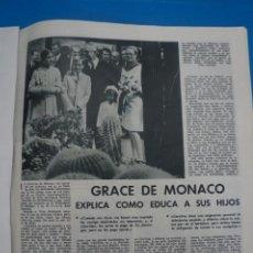 Coleccionismo de Revistas: RECORTE CLIPPING DE GRACE DE MONACO REVISTA LECTURAS Nº 909 PAG. 53 L5. Lote 231436375