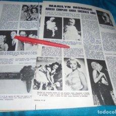 Collectionnisme de Magazines: RECORTE : MARILYN MONROE, HUBIERA CUMPLIDO 50 AÑOS. LECTURAS, JUNIO 1976 (#). Lote 232302575