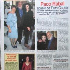 Collezionismo di Riviste: RECORTE REVISTA LECTURAS Nº 2236 1995 PACO RABAL, MARÍA MEDIOLA, BACCARA. Lote 232423530
