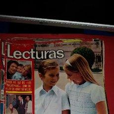 Coleccionismo de Revistas: REVISTA LECTURAS 1975-1ª COMUNION PRINCIPE FELIPE.- MARISOL- PERET .DON CICUTA Y KIKO LEDGARD. Lote 232670055