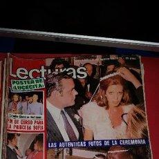 Coleccionismo de Revistas: REVISTA LECTURAS AÑO 1975 - BODA CRISTINA ONASSIS - INCLUYE POSTER LUCECITA. Lote 232685875