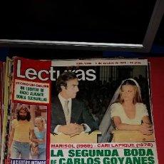 Coleccionismo de Revistas: REVISTA LECTURAS 1975 LA SEGUNDA BODA DE CARLOS GOYANES CON CARI LAPIQUE. Lote 232693940