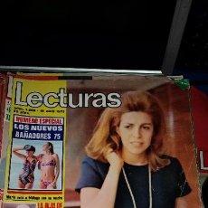 Coleccionismo de Revistas: REVISTA LECTURAS AÑO 1975 - CRISTINA ONASSIS - INCLUYE POSTER PAYASOS TELE. Lote 232727700