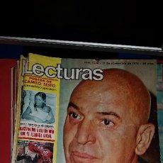 Coleccionismo de Revistas: REVISTA LECTURAS 1975-TELLY SAVALAS-CAMILO SESTO CECILIA PASOLINI MARISOL BARRIO SESAMO. Lote 232738915