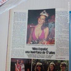 Collectionnisme de Magazines: RECORTE CLIPPING DE ANA ISABEL HERRERO MISS ESPAÑA 1981 REVISTA LECTURAS Nº 1590 PAG. 60 L9. Lote 233585730