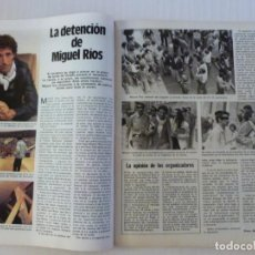 Coleccionismo de Revistas: RECORTE CLIPPING DE MIGUEL RIOS REVISTA LECTURAS Nº 1590 PAG. 44 Y 45 L9. Lote 233586030