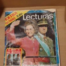 Coleccionismo de Revistas: REVISTA LECTURAS PROCLAMACION REY DE ESPAÑA JUAN CARLOS I - FUNERAL FRANCO -NUM.1233 -5/12/1975. Lote 233921625