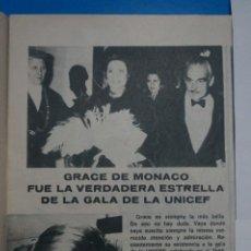 Coleccionismo de Revistas: RECORTE CLIPPING DE GRACE DE MONACO REVISTA LECTURAS Nº 922 PAG. 37 L14. Lote 235055950