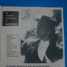 Coleccionismo de Revistas: RECORTE CLIPPING DE JACQUELINE KENNEDY Y SU HISTORIA REVISTA LECTURAS Nº 863 PAG. 35 AL 66 L14. Lote 235059380