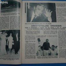 Coleccionismo de Revistas: RECORTE CLIPPING DE ARISTOTELES ONASSSIS Y JACQUELINE REVISTA LECTURAS Nº 863 PAG. 13 AL 33 L14. Lote 235060010