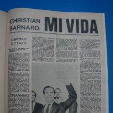Coleccionismo de Revistas: RECORTE CLIPPING DE CHRISTIAN BARNARD REVISTA LECTURAS Nº 919 PAG. 81 AL 85 L14. Lote 235064305
