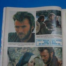 Coleccionismo de Revistas: RECORTE CLIPPING DE SHIRLEY MACLAINE Y CLINT EASTWOOD REVISTA LECTURAS Nº 919 PAG. 34 L14. Lote 235066105
