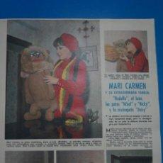 Coleccionismo de Revistas: RECORTE CLIPPING DE MARI CARMEN Y SUS MUÑECOS REVISTA LECTURAS Nº 919 PAG. 31 Y 32 L14. Lote 235066290