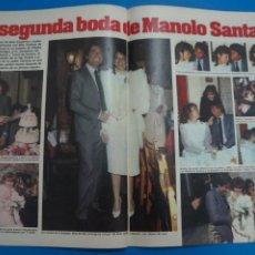 Coleccionismo de Revistas: RECORTE CLIPPING DE MANOLO SANTANA MILA XIMENEZ REVISTA LECTURAS Nº 1610 PAG. 60-66 L16. Lote 235715585