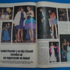 Coleccionismo de Revistas: RECORTE CLIPPING DE ISABEL PRESLEY Y CHAVELI REVISTA LECTURAS Nº 1610 PAG. 76-77 L16. Lote 235716500
