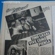 Coleccionismo de Revistas: RECORTE CLIPPING DE TINO CASAL REVISTA LECTURAS Nº 1610 PAG. 88 L16. Lote 235716740